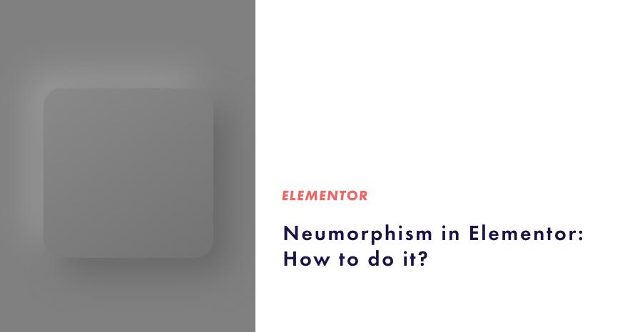 neumorphism in elementor