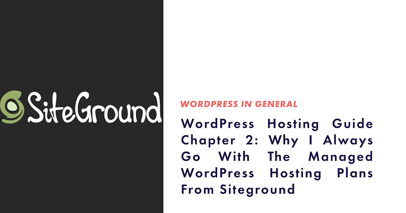 Managed WordPress Hosting from Siteground