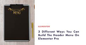 header menu on elementor pro