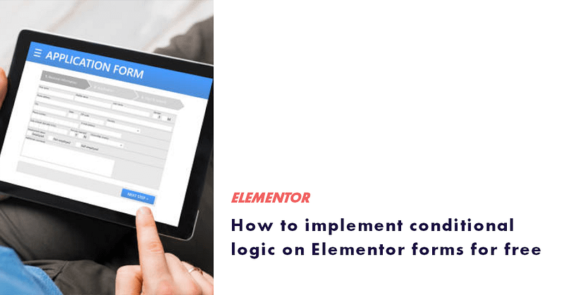 conditional logic on elementor forms