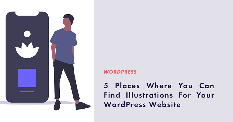 Illustrations for wordpress website