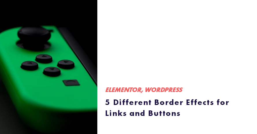 border effects for links
