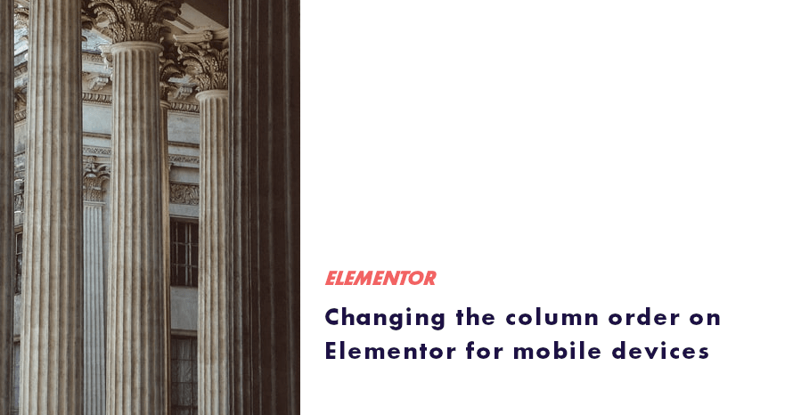 column order on Elementor