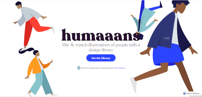 humans illustrations for websites
