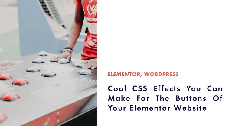 css effects elementor website